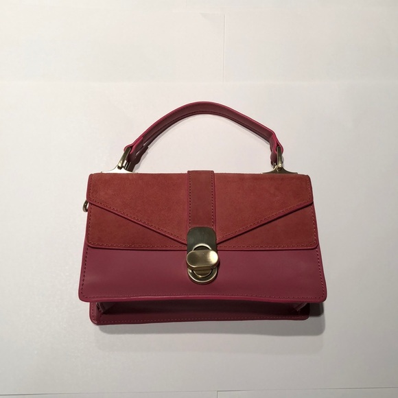 Zara Pink Top Handle Bag